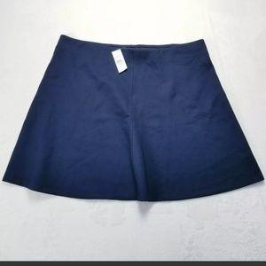 Ann Taylor LOFT a line flare knit skirt blue xl